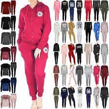 Ladies Womens Loungewear New York All Stars Front Pockets Hoodie Zip Tracksuit