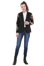 Desigual Boise Black Blazer Jacket Knit Print Sleeves 36-46 UK8-18 RRP£119