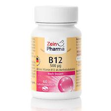ZeinPharma Vitamin B12 60 Lutschtabletten hochdosiert 500µg Made in Germany