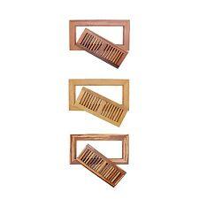 "Bamboo Wood Floor Air Vent Register Wood 6 3/4"" x 12 5/8"""