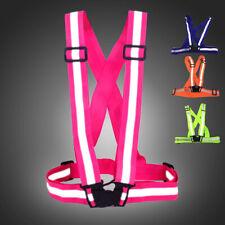 Adjustable Safe Outdoor Indoor Reflective Vest Stripe Belt Night Running Biking