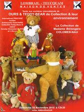 Catalogue de vente Ours, Teddy-bears et environnement