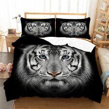 Tiger Animal Black Duvet Cover Set Twin Queen King Size Bedding Set Pillowcase