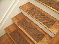 """Premium Carpet Stair Tread Sets - Rugged Maple Brown - 30"""" x 8"""""""