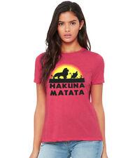 The Lion King Hakuna Matata Junior Women's T-Shirt Red Heather