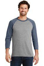 District Made Mens Perfect Tri Blend Shirt 3/4-Sleeve Raglan Tee XS-4XL DM136