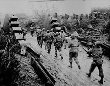 B&W WW2 Photo, US Troops Normandy, D-Day WWII World War Two  WW2116
