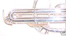 Set di 4 PARACOLPI IN GOMMA ANELLI PER CORNETTA / Trumpet trigger
