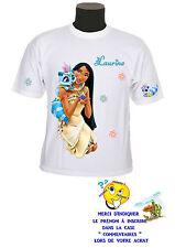 tee shirt fille princesse pocahontas personnalisable prénom réf 138