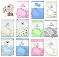 4-Teiliges Kinderwagenset, Kinderwagendecke mit Kissen, Decke mit Kissen