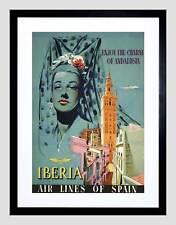 Viajes Iberia España Andalucía SEVILLA GIRALDA Cathedral Art Print B12X1594