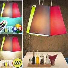 LED tissu plafonnier suspendu éclairage intensité variable RGB télécommande