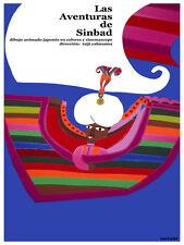 Las aventuras de Sinbad cartoon Decor Poster.Graphic Art Interior design.3660
