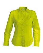 Chemise femme manches longues burnt lime Kariban - K549