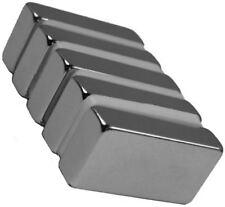 5 Neodymium Magnets   1  x 1/2  x 1/4 inch Block N48