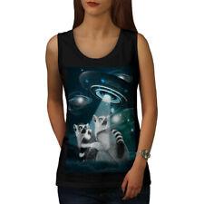 UFO Lemur Alien Wellcoda Women Tank Top NEW | Wellcoda