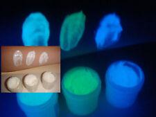 Glow in dark body paint 3 color set [aqua,neon green,sky blue]- choose jar size