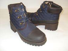 Lucky Brand Akonn Moroccan Blue/Java  Matte/Nylon Boots Bootie New