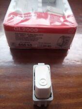 Pulsante bianco o marrone Legrand Molveno GL2000 art. 2620. Nuovo e introvabile