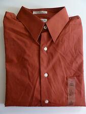 NEW Men's VAN HEUSEN Red Lava Dress Shirt size 16 LARGE 34/35