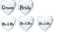 "18"" Foil Wedding Balloon Just Married Mr & Mrs Civil Partnership Gay Lesbian"