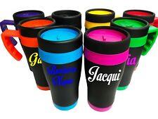 Custom Personalised Travel Mug Stainless Steel Insulated Cup 450ml Teachers Gift
