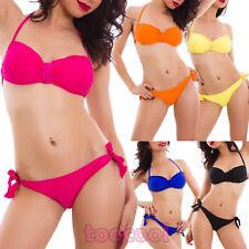 Bikini donna costume da bagno mare due pezzi strass swimwear nuovo SY262