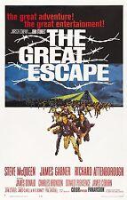 El Gran Escape Steve Mcqueen Póster de Película Retro A0-A1-A2-A3-A4-A5-A6-MAXI 328