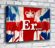 Banksy Canvas - Union Jack