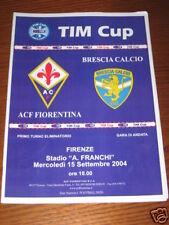 FIORENTINA BRESCIA PROGRAMMA PROGRAMME TIM CUP 2004/05