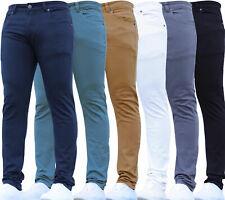 New Kids Skinny Boys Stretch Casual Adjustable Waist Jeans Chinos School Pants