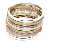 Semanario Band Ring - 7 Ring Lucky Band Ring 18k Gold Plated  Week Ring  Size 12