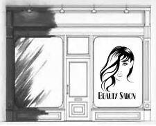 Beauty Salon nails shop Lady Window Mirror Vinyl wall art Decal Sticker