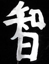 Kanji Symbol Wisdom Metal Garden Yard Lawn Art Stake