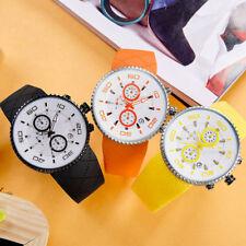 Sinobi ocio Banda de Silicona Cuarzo Deporte Reloj Timer Calendario Luminoso punteros