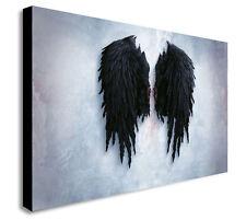 BANKSY BLACK ANGEL WINGS CANVAS WALL ART - Various sizes