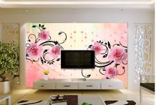 3D Perlen, Blumen 5444 Fototapeten Wandbild Fototapete BildTapete Familie DE