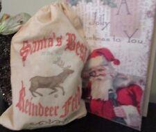 Reindeer bag, Reindeer Feed Sack, Santa sack, Santa's Reindeer feed, Gift bag,Ch