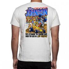 BIG JOHNSON Sprint Car Racing White Shirt