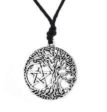 Tree of Life Yggdrasil Pentacle Pentagram Portugal Wiccan Pagan Tibetan Necklace