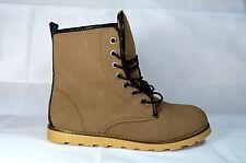 Cordones Botines botas mujer Zapatos de CORDONES T. gr.36-41 caqui NUEVO A.13