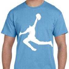 Carolina Powder Baby Blue Zombie Dead Jumpman Jordan Spoof Logo T shirt