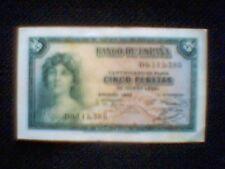COLECCIÓN-ESPAÑA: BILLETE 5 PESETAS *1935* S-B SERIE VAJA (0,112,380) EN EBC VE