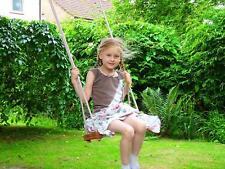 BABY CHILDREN KIDS INDOOR OUTDOOR GARDEN WOODEN ROPE SWING SEAT CHAIR SEE SAW