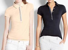 NWT Ann Taylor Jeweled Polo Shirt Size S