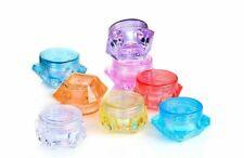 10 Mini Cosmetic Jars Empty Makeup Cream Sample Container Screw Cap Lid 3g