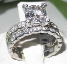 2659 wedding & engagement ring set SIMULATED DIAMOND STAINLESS STEEL BRIDAL