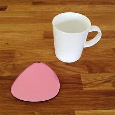 Pebble Shaped Coaster Set - Pink Mirror