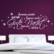 Wandtattoo Wandsticker Wandaufkleber Schlafzimmer Gute Nacht Good Night W1320
