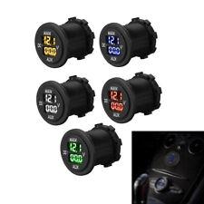12V 24V Car Motorcycle LED Panel Dual Voltage Voltmeter Ammeter Volt Meter Guage